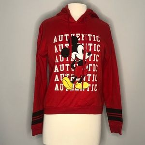 Disney Mickey Red Hoodie Jacket Size Medium